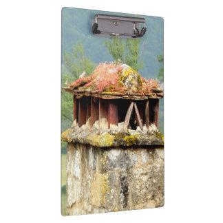Porte-bloc Porte - bloc français antique de cheminée