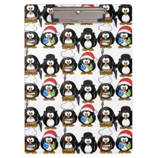 Porte-bloc Porte - bloc mignon de pingouins de personnaliser