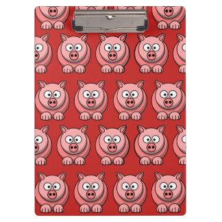 Porte-bloc Porte - bloc mignon de porc de personnaliser pour