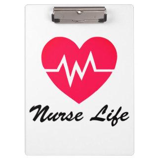 Porte-bloc Porte - bloc rouge de coeur de la vie ECG