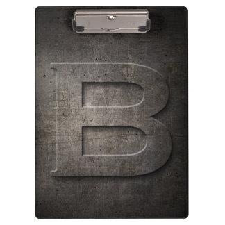 Porte-bloc Porte - bloc rustique de monogramme en métal B