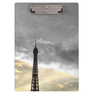 Porte-bloc Porte bloc tour Eiffel or et argent