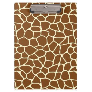 Porte-bloc Poster de animal sauvage de motif de girafe
