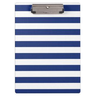 Porte-bloc Rayures bleues et blanches de point chanceux