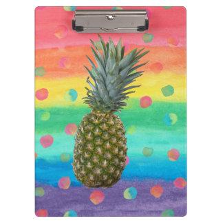 Porte-bloc Rayures et taches modernes d'aquarelle d'ananas