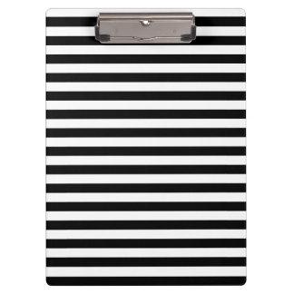 Porte-bloc Rayures minces - blanc et noir