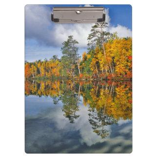 Porte-bloc Réflexions d'étang d'automne, Maine