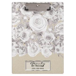 Porte-bloc Roses d'hiver rustiques blancs Papier d'emballage