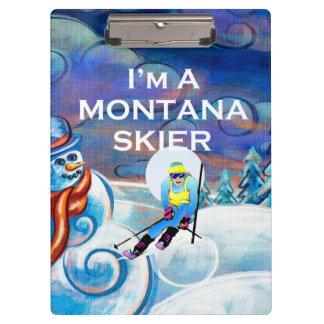 Porte-bloc Skieur SUPÉRIEUR du Montana