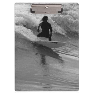 Porte-bloc Surfer la gamme de gris de vagues