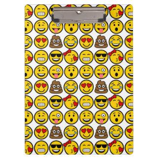 Porte-bloc Visages d'émotion de motif d'Emoji d'amusement