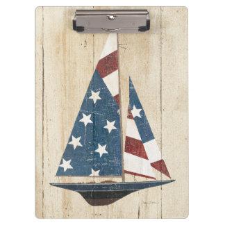 Porte-bloc Voilier avec le drapeau américain