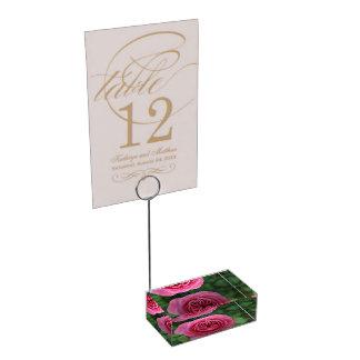 Porte-carte de table Rose Macro