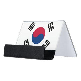 Porte-cartes avec le drapeau de la Corée du Sud