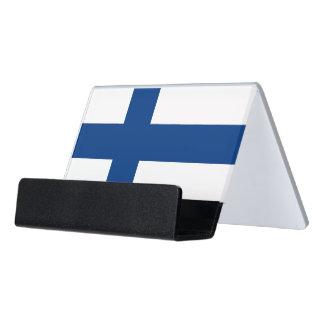 Porte-cartes avec le drapeau de la Finlande
