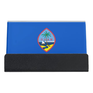 Porte-cartes avec le drapeau de la Guam,
