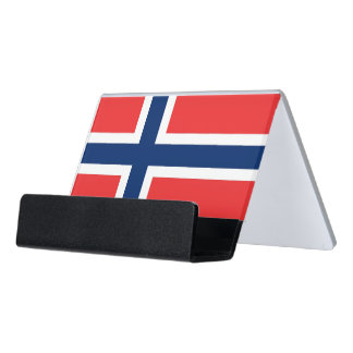 Porte-cartes avec le drapeau de la Norvège