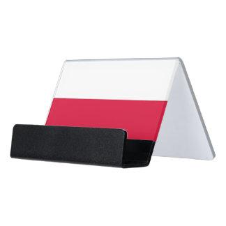 Porte-cartes avec le drapeau de la Pologne