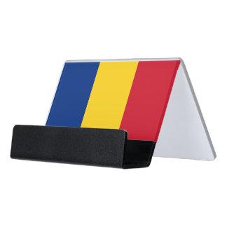 Porte-cartes avec le drapeau de la Roumanie