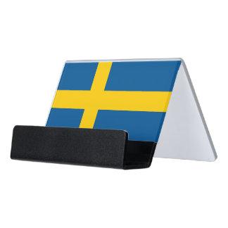 Porte-cartes avec le drapeau de la Suède