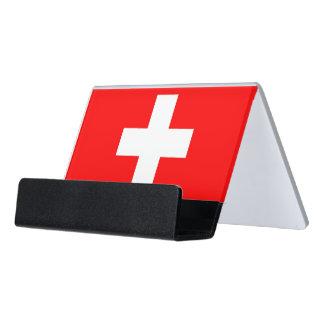 Porte-cartes avec le drapeau de la Suisse