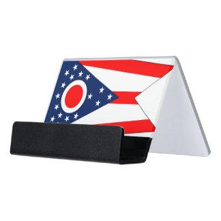 Porte-cartes avec le drapeau de l'état de l'Ohio,