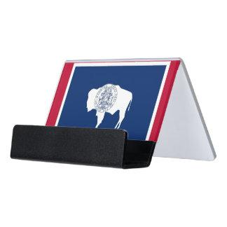 Porte-cartes avec le drapeau de l'état du Wyoming,