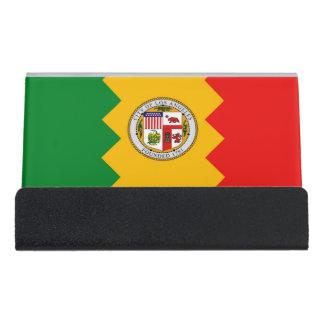 Porte-cartes avec le drapeau de Los Angeles,