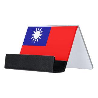 Porte-cartes avec le drapeau de Taïwan