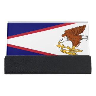 Porte-cartes avec le drapeau des Samoa