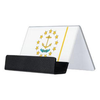 Porte-cartes avec le drapeau d'Île de Rhode,