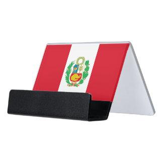 Porte-cartes avec le drapeau du Pérou