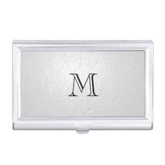 Porte-cartes de carte de visite de monogramme de étui pour cartes de visite