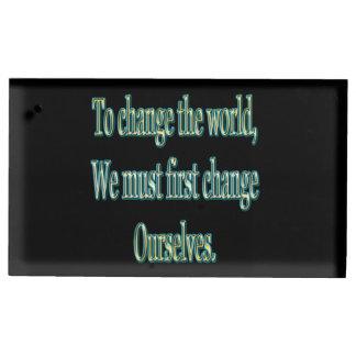Porte-cartes De Placement Changez le monde