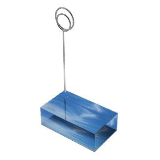 Porte-cartes De Placement Ciel bleu avec la photo abstraite de nature de