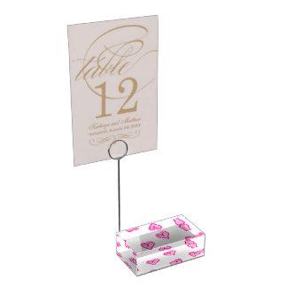 Porte-cartes De Placement Coeurs roses