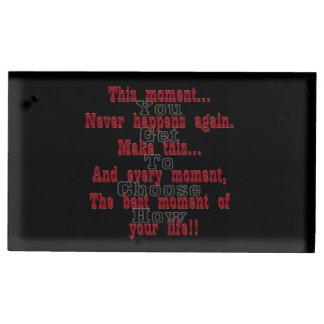 Porte-cartes De Placement Faites à ce moment le meilleur moment de votre vie