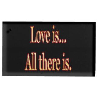 Porte-cartes De Placement L'amour est tout là est