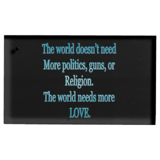 Porte-cartes De Placement Le monde a besoin de plus d'amour