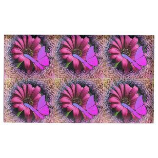 Porte-cartes De Placement Papillon sur la marguerite