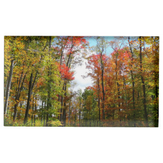 Porte-cartes De Placement Photographie de nature d'automne d'arbres de chute