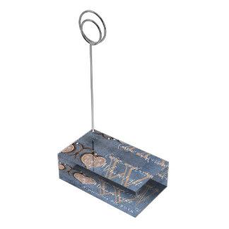 Porte-cartes De Placement Porte-cartes en bois rustique folklorique de