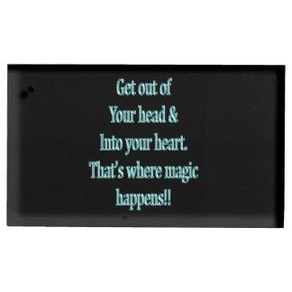 Porte-cartes De Placement Sortez de votre tête et dans votre coeur