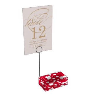 Porte-cartes De Table Coeurs rouges mignons