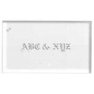 Porte-cartes De Table Monogramme de porte-cartes de Tableau