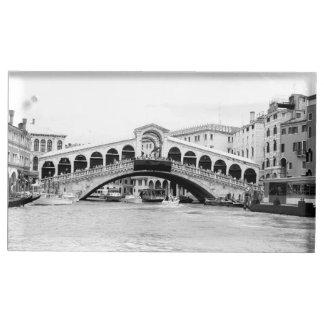 Porte-cartes De Table Pont noir et blanc de Rialto, Venise