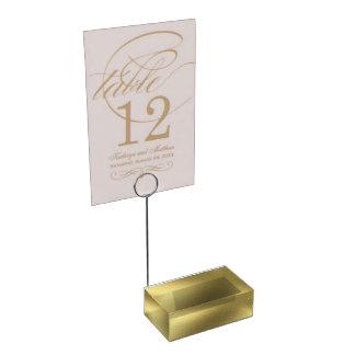 Porte-cartes De Table Porte-cartes graphique de Tableau de vieil or
