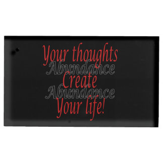 Porte-cartes De Table Vos pensées créent votre vie