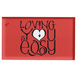 Porte-cartes De Table Vous aimant porte-cartes blanc rouge de Tableau