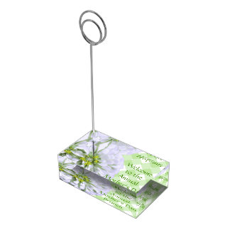 Porte-cartes de Tableau - Zinnia blanc sur le Porte-photo